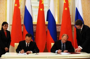 Russia and China agreed on huge infrastructure projects.