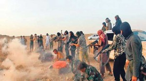 ISIL gangsters killing prisoners in Iraq.
