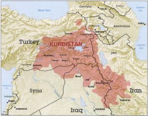 TR KURDISTAN map