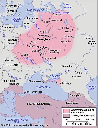 The Kievan Rus in the 11th century.