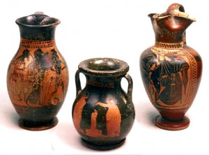 Greek amphoras found at Taman peninsula (currently Krasnodar region, Russia).