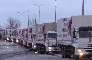 The Russians are providing humanitarian assistance to the break-away regions of Ukraine.