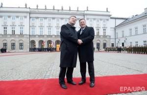Petro Proshenko and Polish president Bronislav Komorowski
