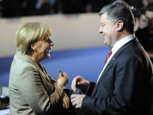 Angela Merkel with Ukrainian President