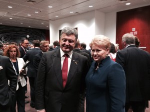 Poroshenko with the president of Lithuania