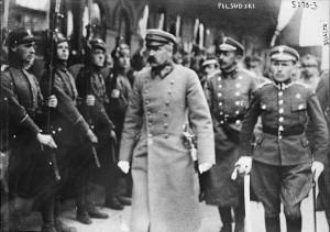 Josef Pilsudski in Minsk, 1919