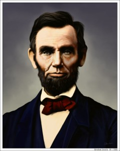 Abraham Lincoln, 16th US président in office 1861-1865