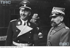 Reichsfuehrer and later Nazi Germany Chancellor Himmler and Kordian Zamorski
