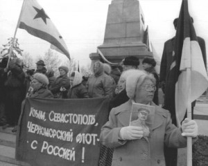 Crimeans rally for reunification with Russia in 1991