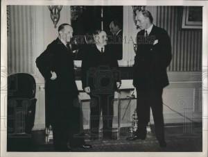 Amb. Geo Bonnet (France), Amb. Ivan Maisky (USSR), British Lord Halifax.