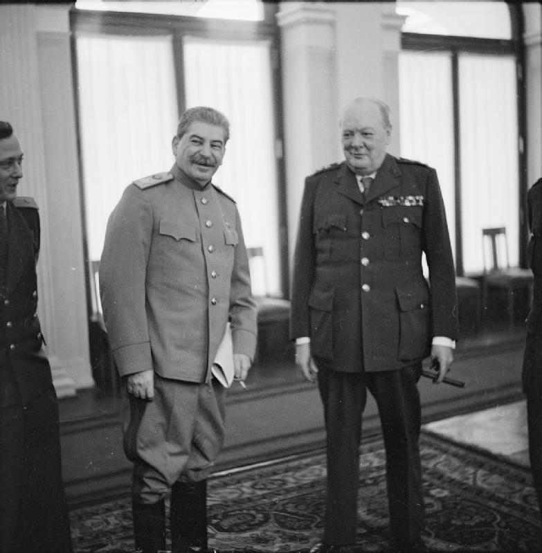 churchill stalin and roosevelt meet in yalta ukraine