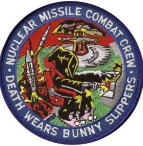 A favorite patch among ICBM crews, who often pull alerts in pajamas.