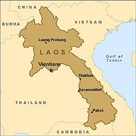 map-laos
