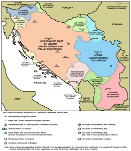Axis / Fascist occupation and partition of Yugoslavia in World War II (as of 1941)