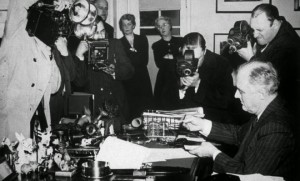 President Roosevelt signs the Lend-Lease bill