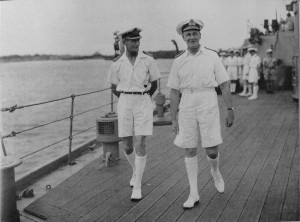 On the right - Admiral James Somerville (1882–1949)