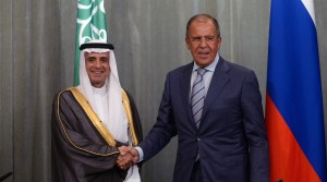 From right: Russian Foreign Minister Sergey Lavrov meets with Saudi Arabian Foreign Minister Adel bin Ahmed Al-Jubeir in Moscow, August 2015. © Kirill Kallinikov / RIA Novosti