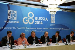 "High-Level Expert Seminar ""The Post-2015 Development Agenda: towards a new partnership for development"" held in Moscow on March 12, 2014, was the last event organized by the Russians inside G8."