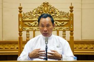 Parliamentary speaker Shwe Mann.