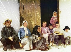 A Russian peasant family, 1907