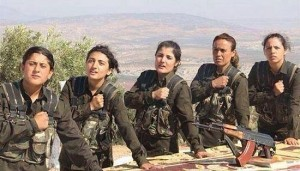 Kurdish women' 'Peshmerga' batallions cause horror among ISIS gangs in Syria.