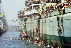 In August 1991 several ships carrying approximately 15,000 Albanian migrants entered the port of Bari, Italy
