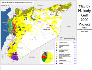 Ethnic map of Syria