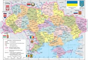 Political map of Ukraine before the coup d'etat of February 2014.