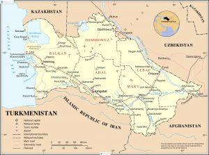 Turkmenistan map