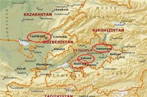 Ferghana Valley map