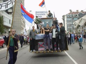 "2000 ""Bulldozer"" revolution in Belgrade opened the Pandora box of unconstitutional revolts in target states."