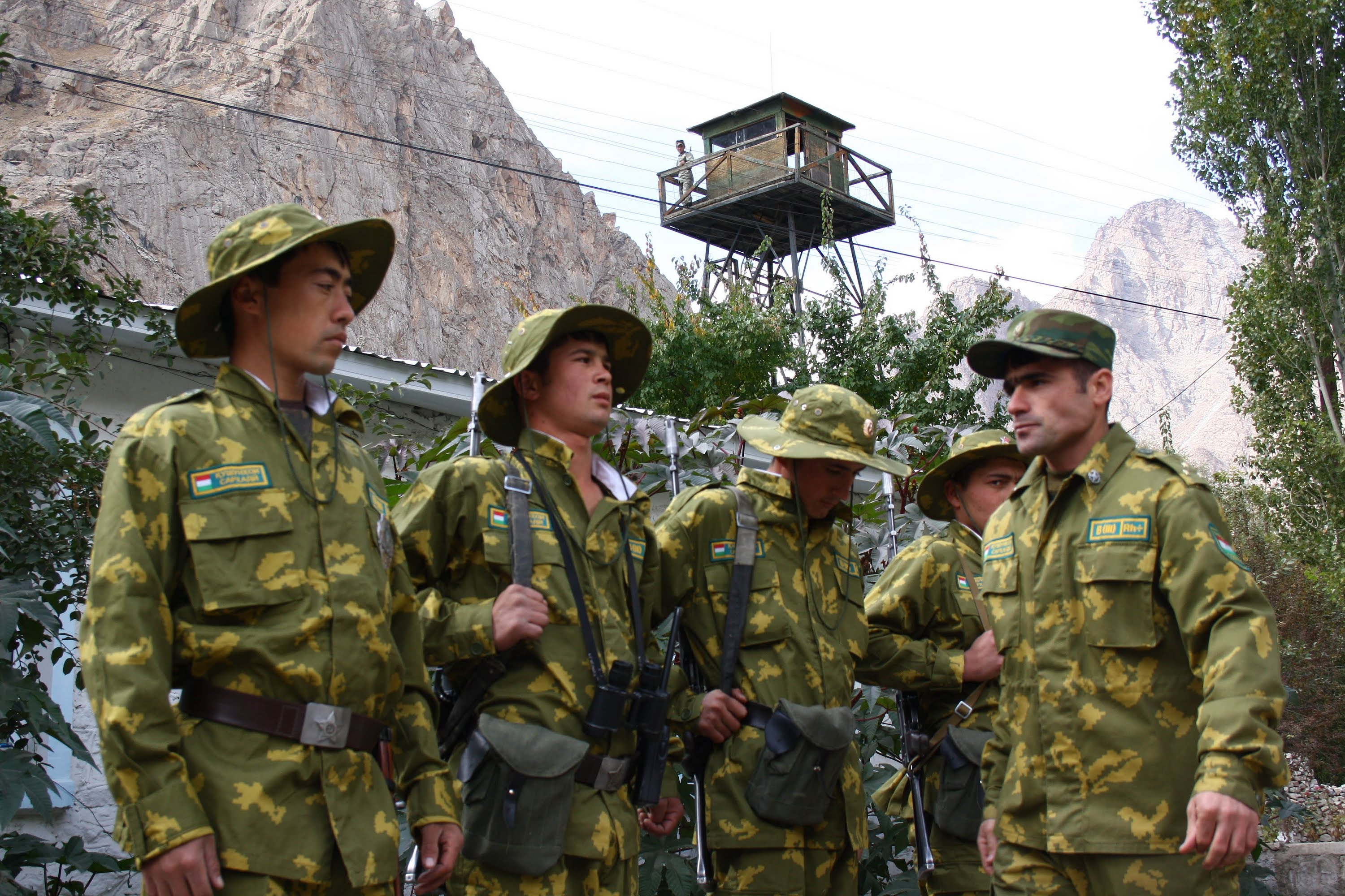 Tajik border guards