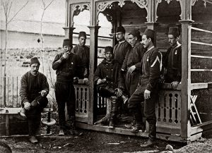 Turkish prisoners of war, taken by the Russian Army in Bucharest, 1878