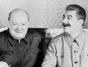 Winston Churchill and Joseph Stalin in Kremlin, August 1942