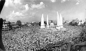Student's rally in Bangkok, Oct 1973