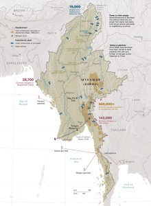 Myanmar natural resources map