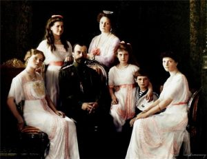 Emperor Nikolay II Alexandrovich with family, 1913