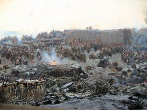 Detail of Franz Roubaud's panoramic painting The Siege of Sevastopol (1904)