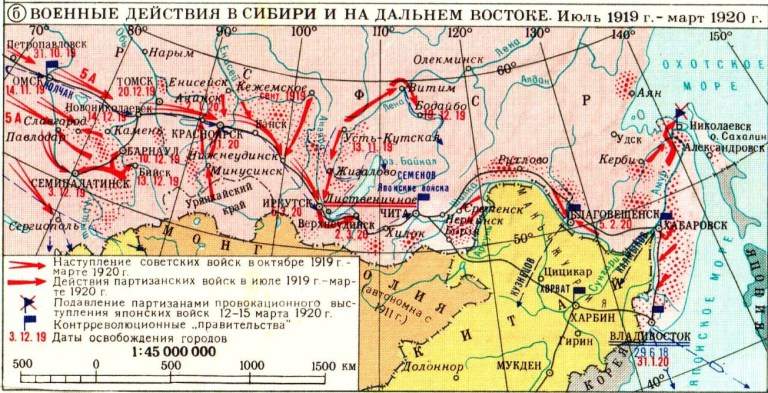 Russian civil war in the Far East, 1919-1920