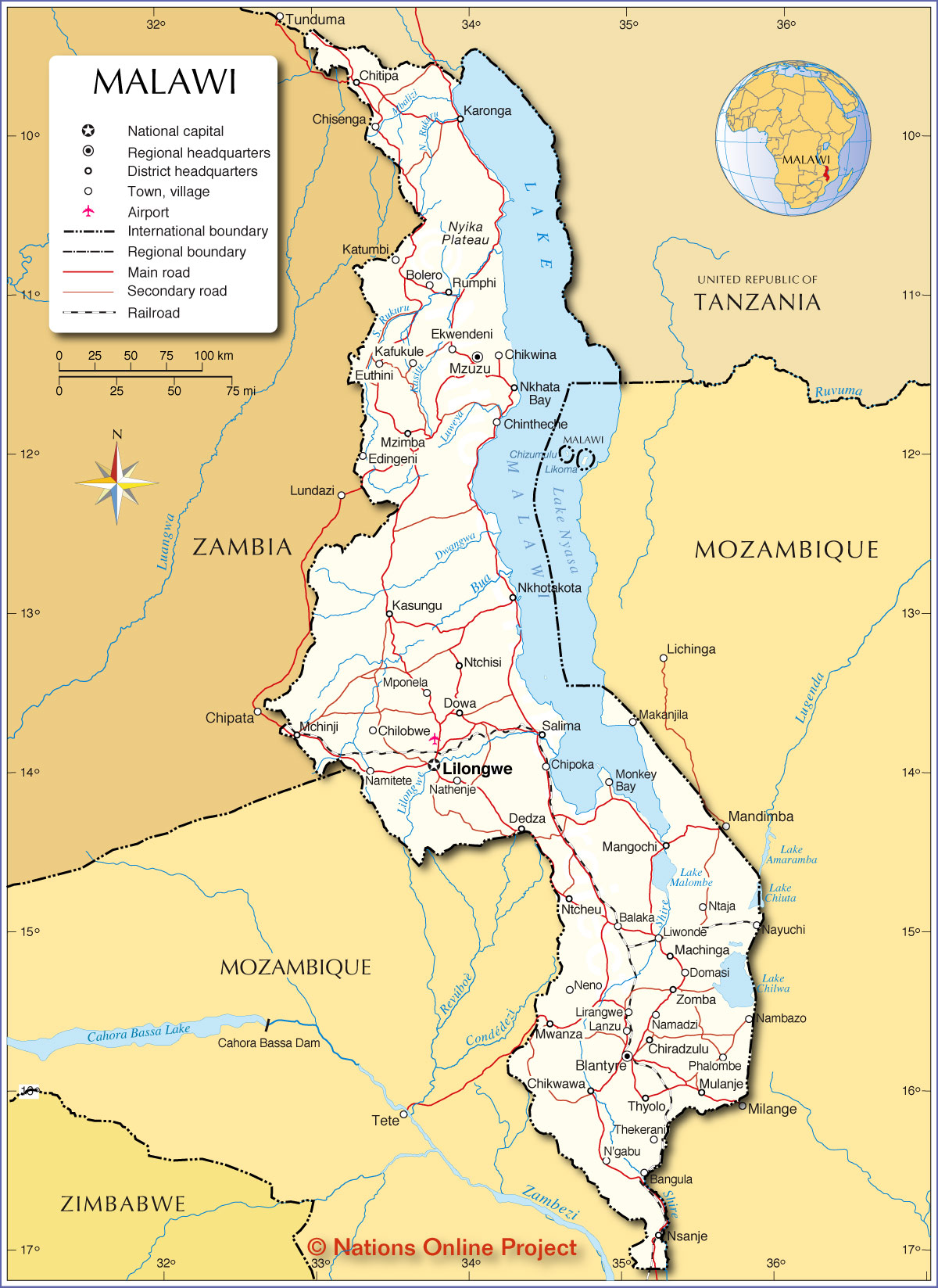Hybrid Wars 8 Malawi and Zambia – Map of the Oriental Countries