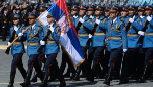 Serbian troops participating in 2015 Victory Parade in Moscow