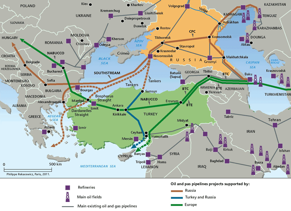 Oil and gas pipelines in South-East Europe