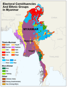 Electoral Constituences and Ethnic Groups in Myanmar
