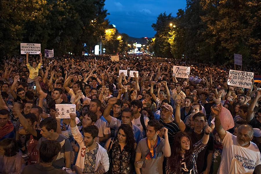 """Electric Maidan"" in Yerevan, July 2015."