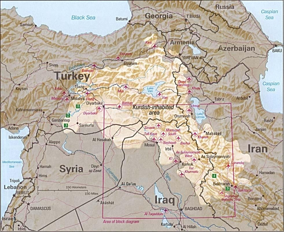 Kurdish inhabited area