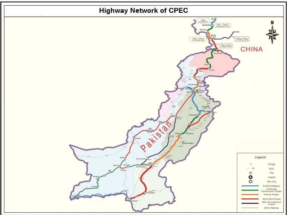 CPEC Road Network