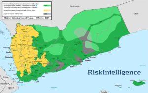 Yemen War map Oct 9 2017