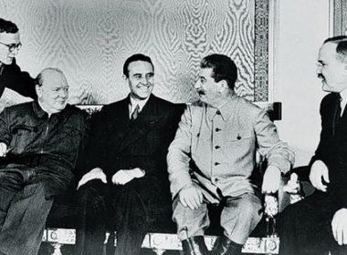 Churchill, Harriman, Stalin, Molotov - Moscow Aug 1942