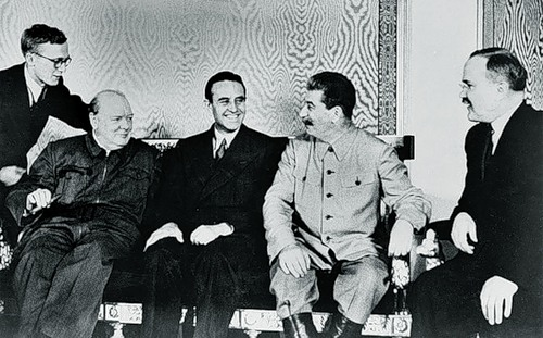 Churchill, Harriman, Stalin, Molotov - Moscow Aug 1942