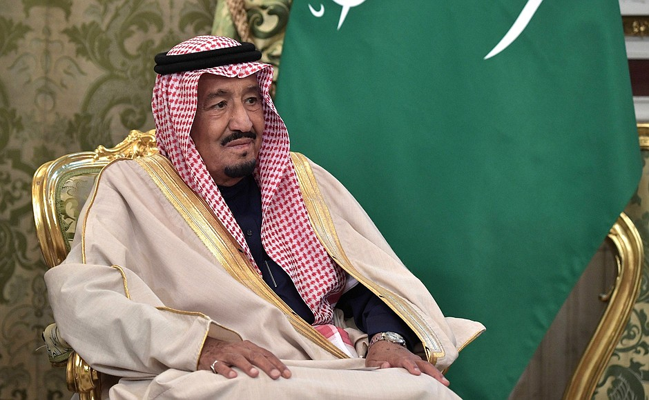 King Salman bin Abdulaziz in Moscow (photo: Kremlin.ru)